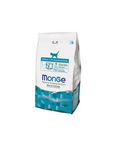 Monge Cat Kitten Ricco di Pollo 400gr