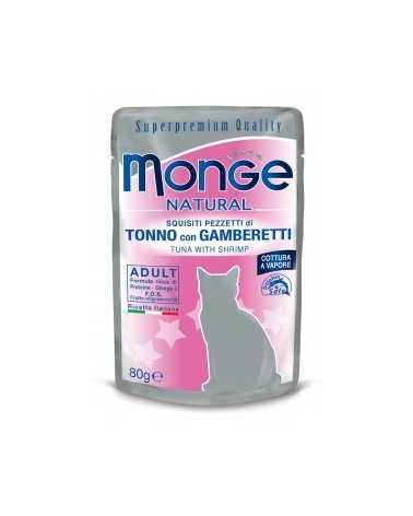 Monge Gatto Buste Tonno con Gamberetti 80 g