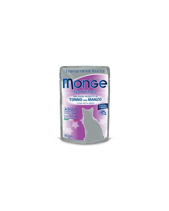 Monge Gatto Buste Tonno con Manzo 80 g