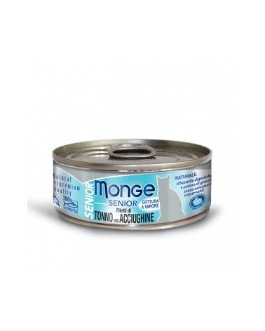 Monge Filetti di Tonno con Acciughine – Senior 80g