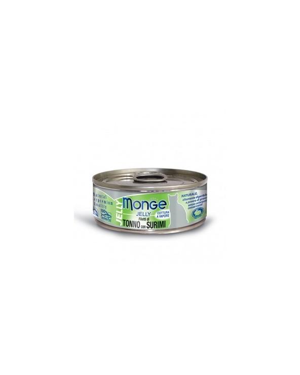 Monge Filetti di Tonno del Pacifico con delicato Surimi in gelatina 80g