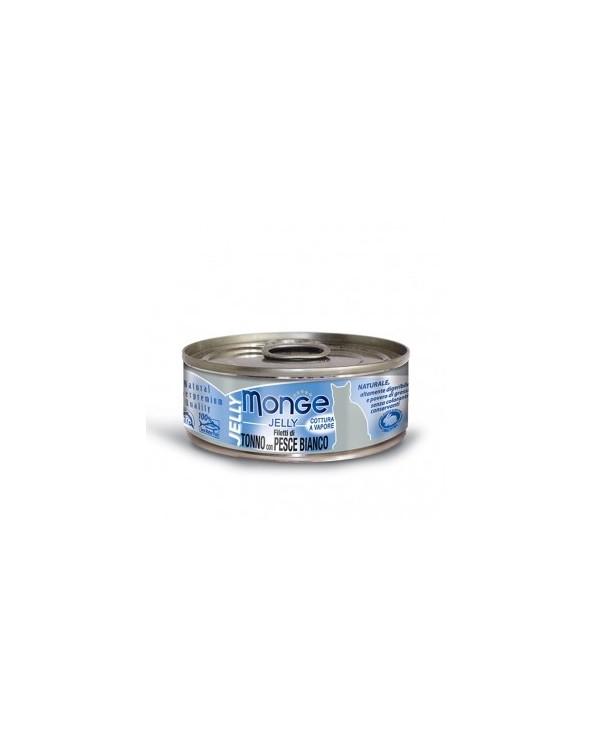 Monge Filetti di Tonno del Pacifico e Pesce Bianco in gelatina 80 g