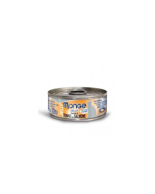 Monge Pezzetti di Tonno Bonito con pregiato Salmone in gelatina 80g