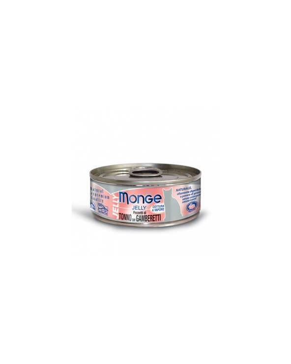 Monge Pezzetti di Tonno del Pacifico con Squisiti Gamberetti in gelatina 80g
