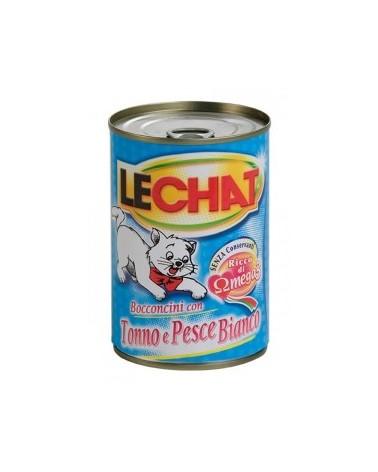 LeChat Bocconcini con Tonno e Pesce Bianco 720g