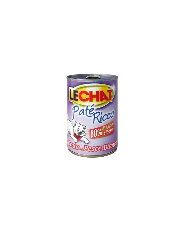 LeChat Paté con Orata e Pesce Bianco 400g