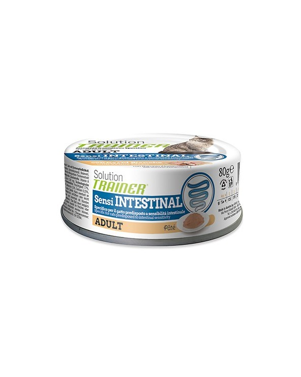 Solution Trainer Cat SensIntestinal Adult con Carni Bianche Lattina in Patè 80g