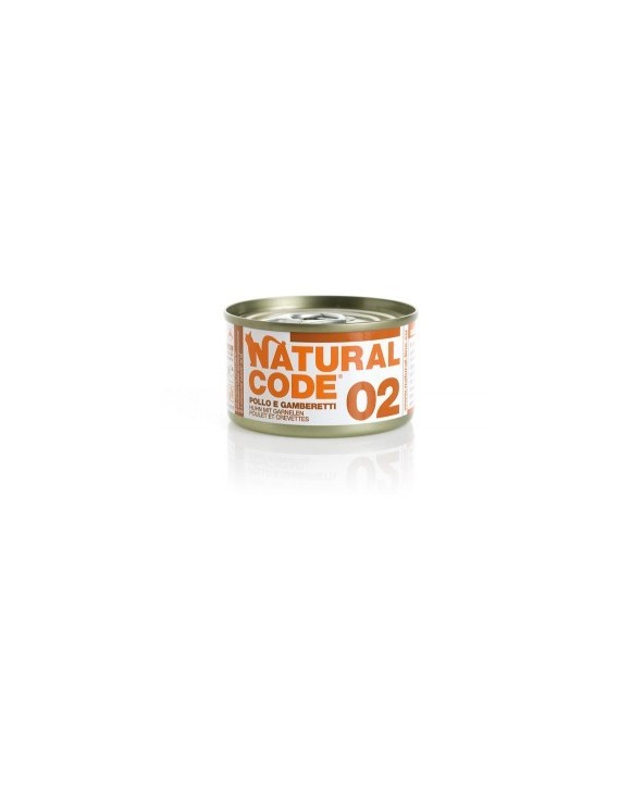 Natural Code Cat Adult 02 Pollo e Gamberetti 85 g