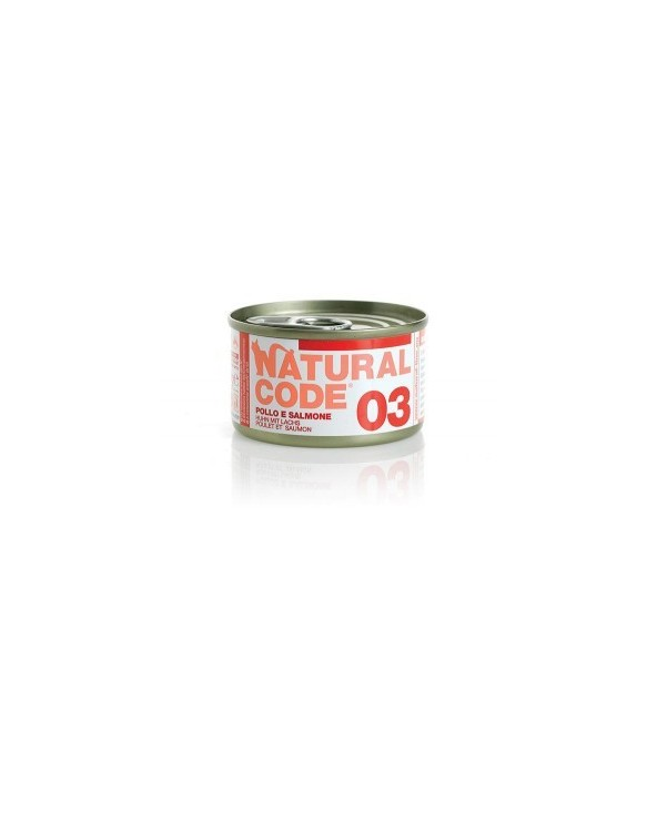 Natural Code Cat Adult 03 Pollo e Salmone 85g