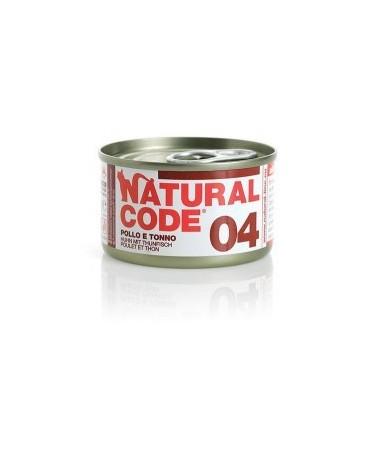 Natural Code Cat Adult  04 Pollo e Tonno 85g