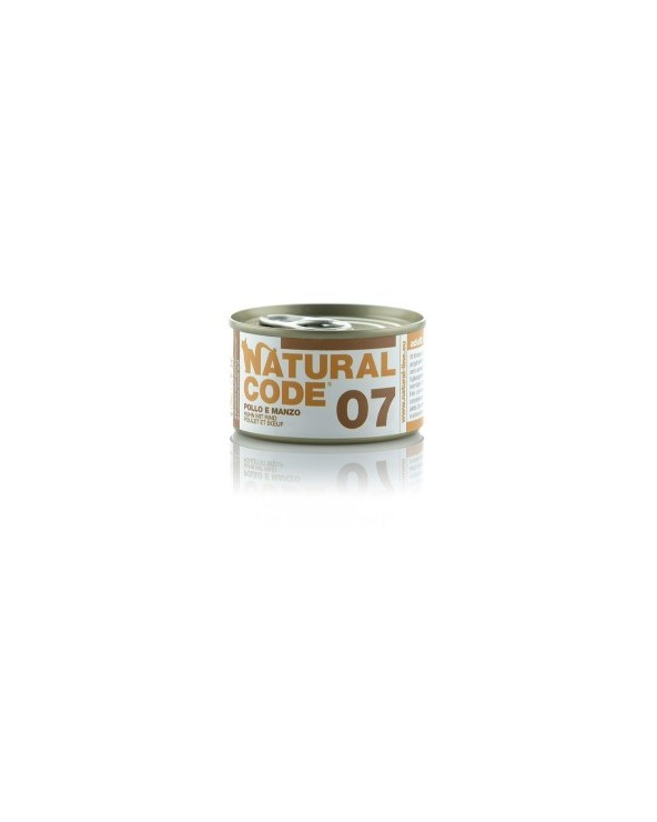 Natural Code Cat Adult 07 Pollo e Manzo 85 g