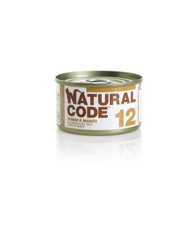 Natural Code Adult Cat 12 Tonno e Manzo
