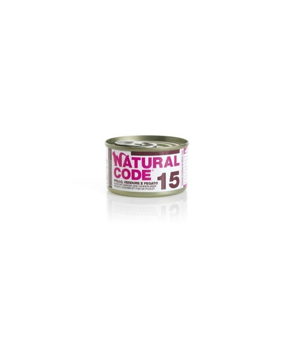 Natural Code Cat Adult 15 Pollo Verdure e Fegato 85 g