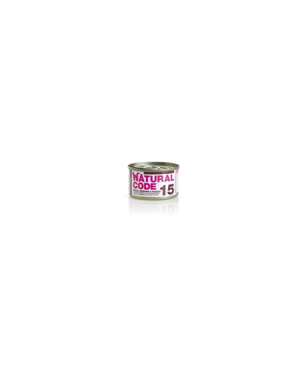 Natural Code Adult Cat 15 Pollo, Verdure e Fegato