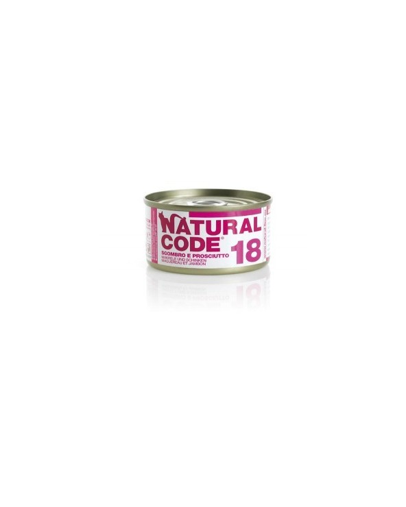 Natural Code Cat Adult 18 Sgombro e Prosciutto 85g