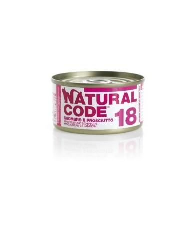Natural Code Cat Adult 18 Sgombro e Prosciutto 85 g