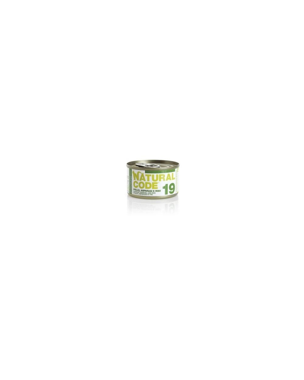 Natural Code Adult Cat 19 Pollo, Asparagi e Riso
