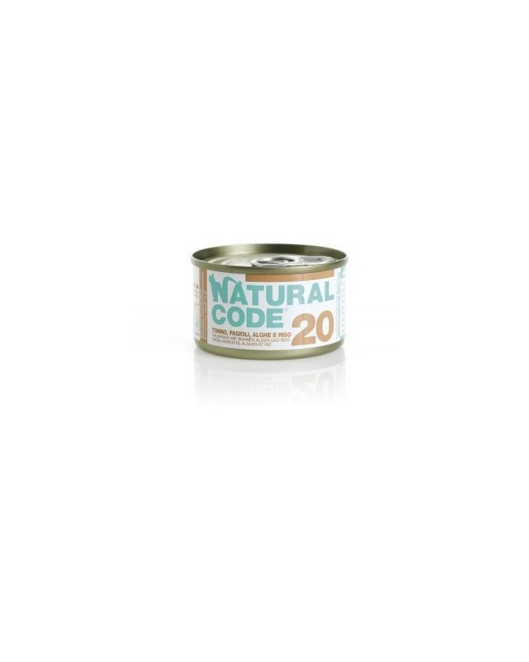 Natural Code Cat Adult 20 Tonno Fagioli e Alghe 85g