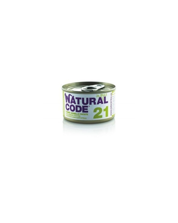 Natural Code Cat Adult 21 Tonno Agnello e Patate 85g