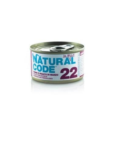 Natural Code Cat Adult 22 Tonno e Fegato di Manzo 85g
