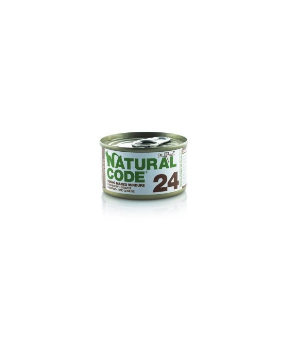 Natural Code Cat Adult 24 Tonno Manzo e Verdure 85g