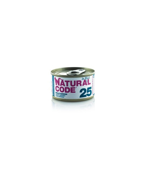 Natural Code Cat Adult 25 Pollo e Sardine 85g