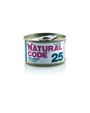 Natural Code Cat Adult 25 Pollo e Sardine 85g