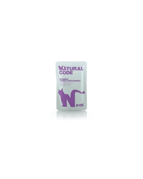 Natural Code Bustine P05 Sgombro, Tonno e Pesce Bianco