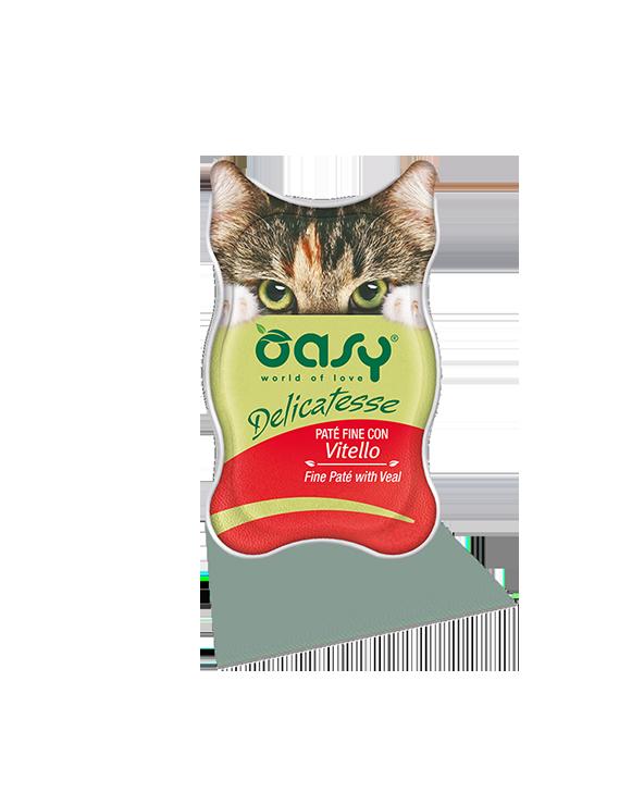 Oasy Cat Delicatesse Patè Fine Con Vitello 85 g