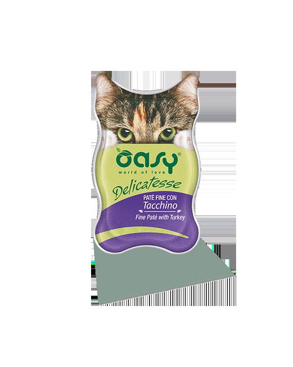 Oasy Cat Delicatesse Patè Fine Con Tacchino 85 g