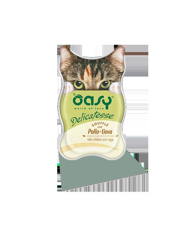 Oasy Cat Delicatesse Soufflè Con Pollo e Uova 85 g