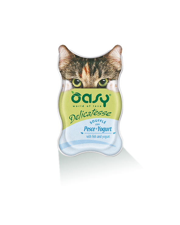 Oasy Cat Delicatesse Soufflè Con Pesce e Yogurt 85 g