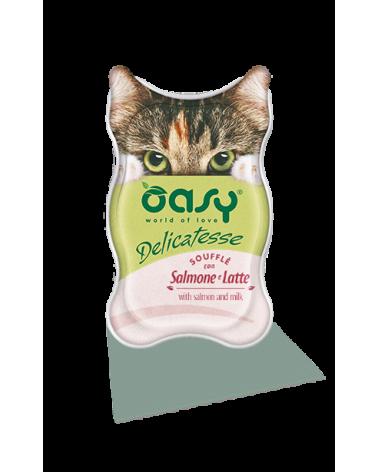 Oasy Cat Delicatesse Soufflè Con Salmone e Latte 85g