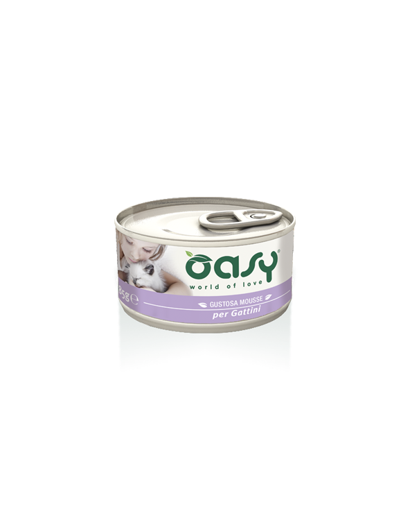 Oasy Cat Mousse per Gattini con Pollo 85 g