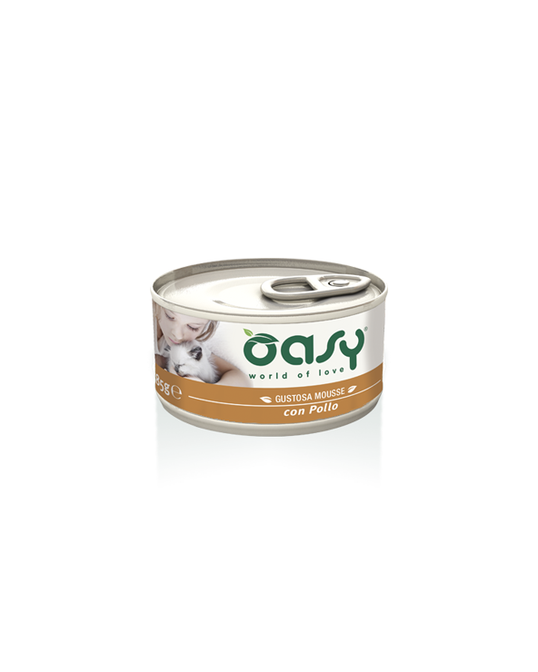 Oasy Cat Mousse con Pollo 85g
