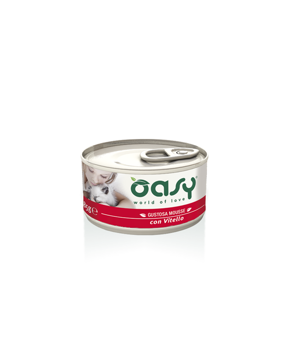 Oasy Cat Mousse con Vitello 85 g
