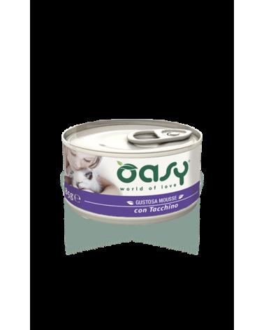 Oasy Cat Mousse con Tacchino 85 g