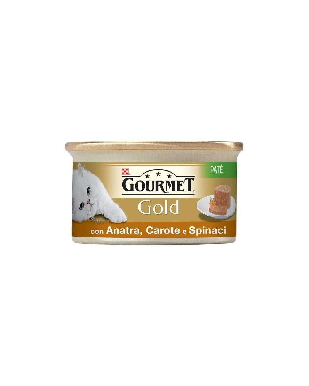 Gourmet Gold Patè con Anatra Carote e Spinaci