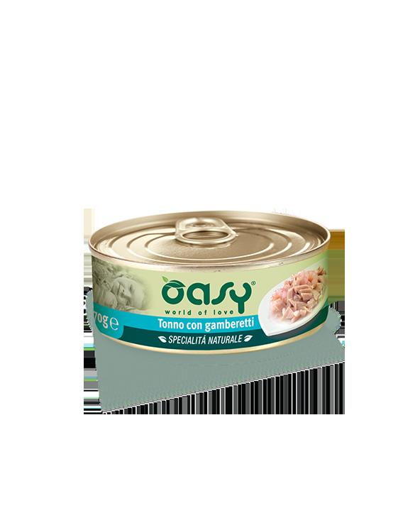 Oasy Cat Specialità Naturali Tonno con Gamberetti Lattina 70 g