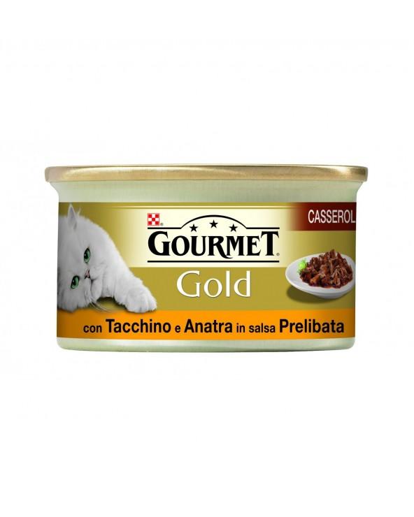 Gourmet Gold Casserole con Tacchino e Anatra in Salsa 85 g