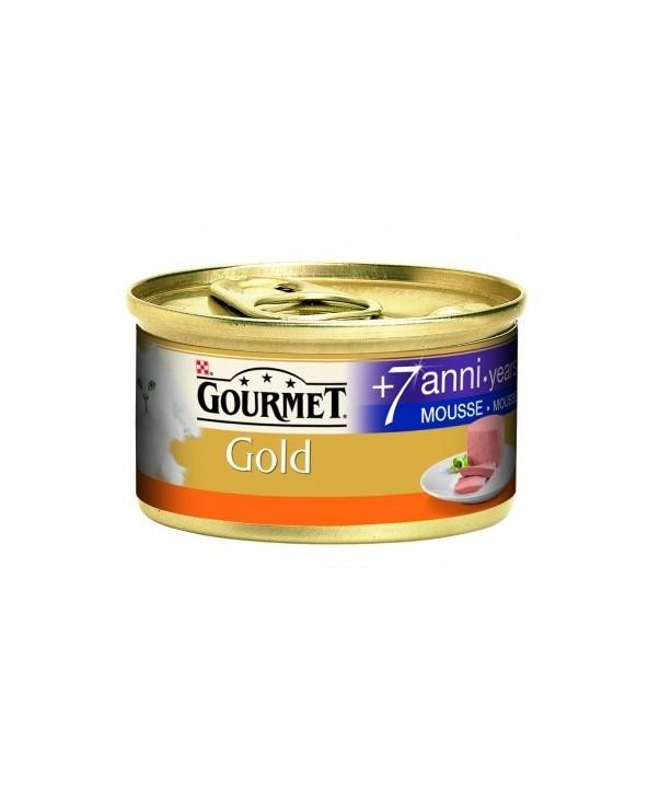Gourmet Gold Mousse Senior 7+ con Tacchino 85 g