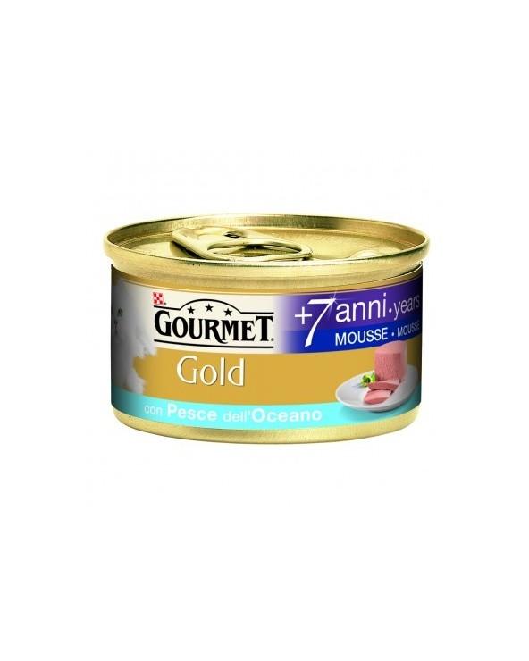 Gourmet Gold Mousse Senior 7+ con Pesce dell'Oceano 85 g