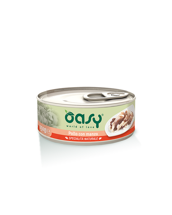 Oasy Cat Specialità Naturali Pollo con Manzo Lattina 70 g