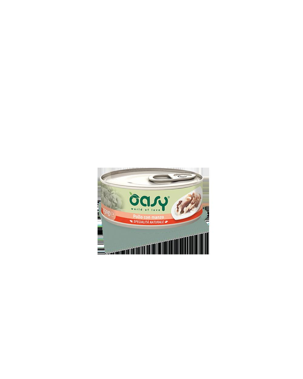 Oasy Wet Cat Lattina - Pollo con Manzo