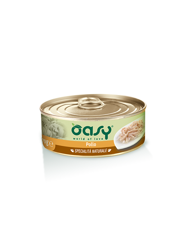 Oasy Cat Specialità Naturali Pollo Lattina 70 g