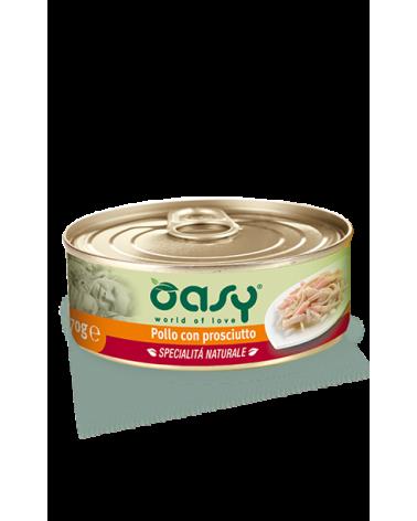 Oasy Cat Specialità Naturali Pollo con Prosciutto Lattina 70 g