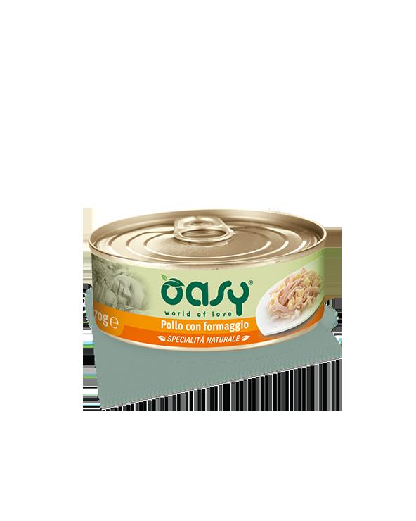Oasy Cat Specialità Naturali Pollo con Formaggio Lattina 70g