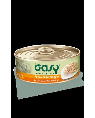 Oasy Wet Cat Lattina - Pollo con Formaggio
