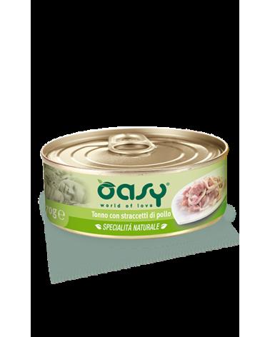 Oasy Cat Specialità Naturali Tonno con Straccetti di Pollo Lattina 70 g