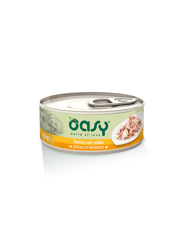 Oasy Cat Specialità Naturali Tonno con Orata Lattina 70 g